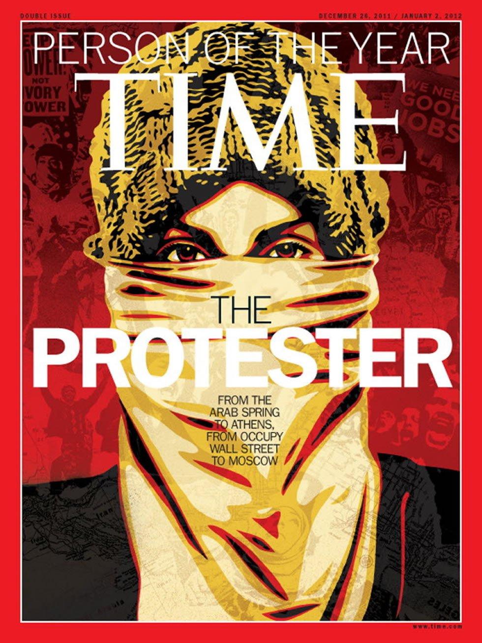 Homenaje a la Primavera Árabe, Occupy Wall Street y las manifestaciones en Madrid, Atenas y Moscú