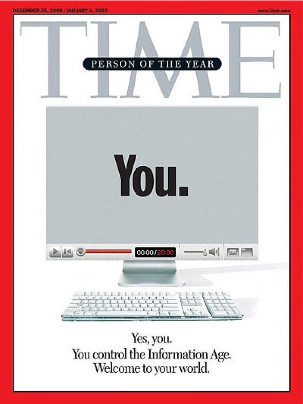 Homenaje a las personas que utilizan Internet cada día: bloggers, usuarios de redes, Wikipedia...
