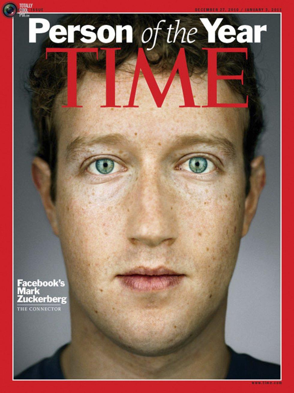 El creador de Facebook es la segunda persona más joven en ser portada