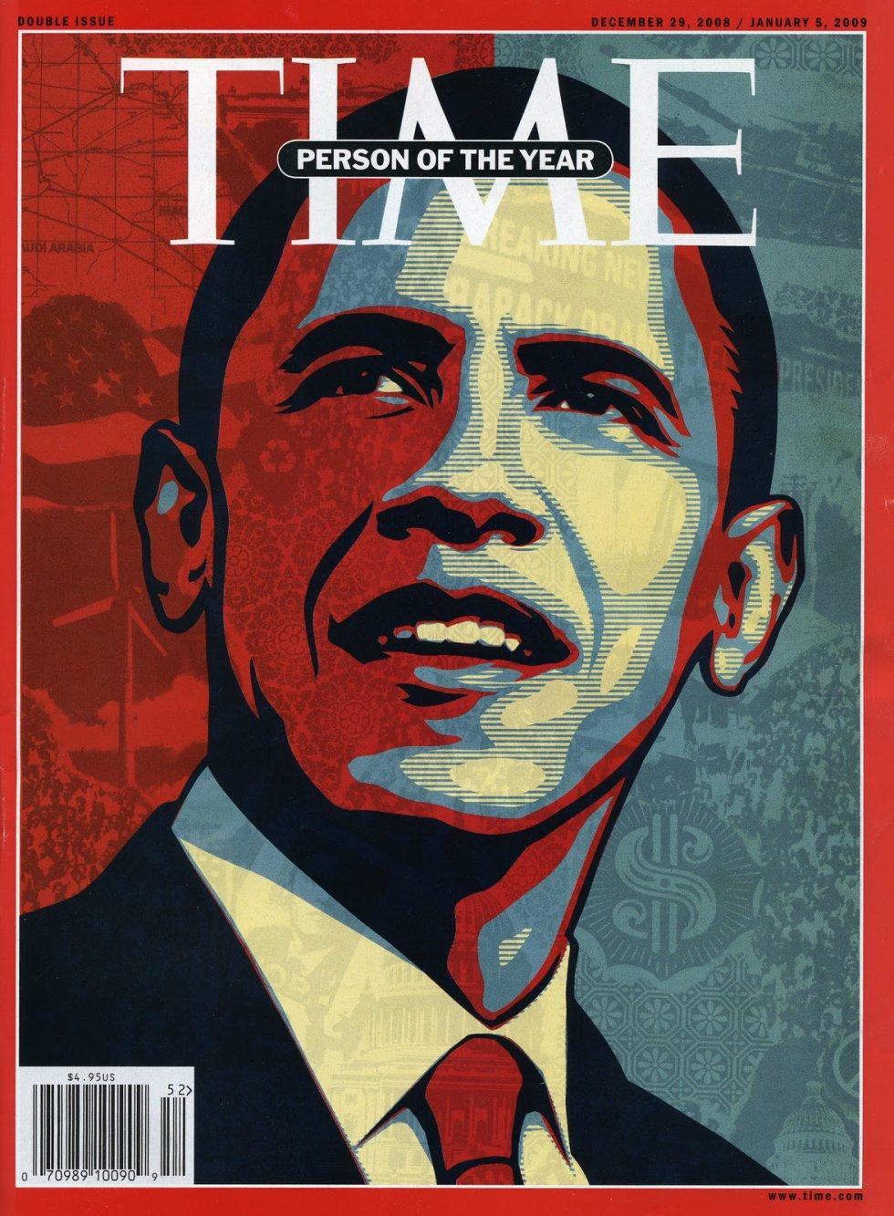 El primer presidente negro de EEUU fue la persona del año para Time