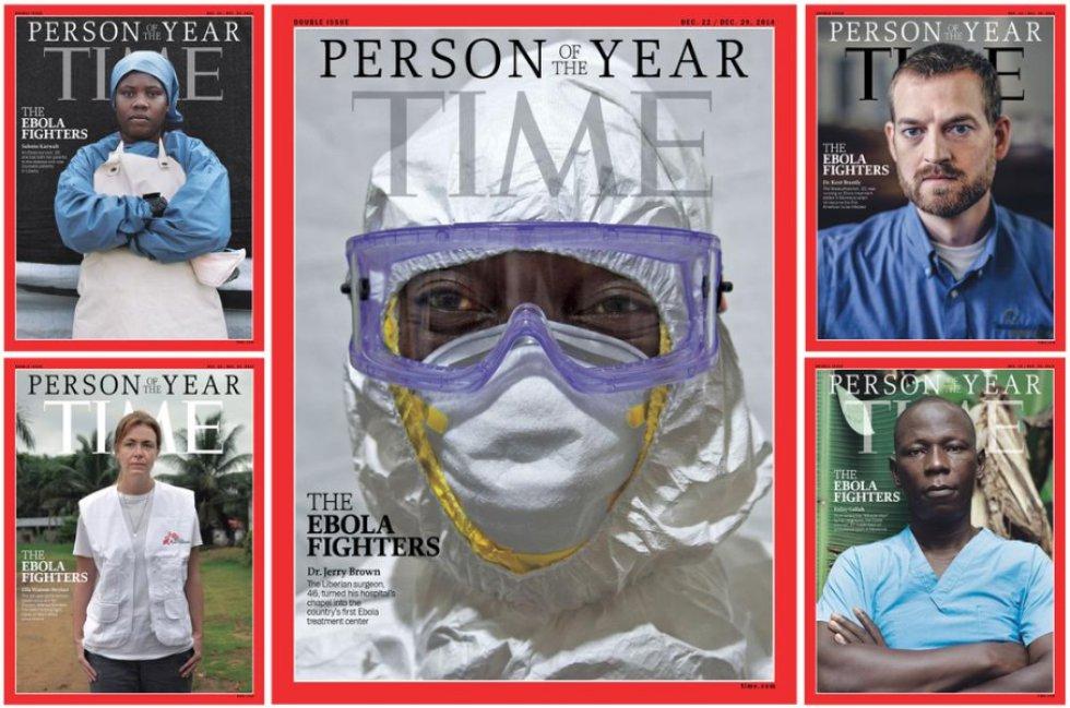 La revista ha elegido como personas del 2014 a los médicos y enfermeras que luchan contra el ébola en África.