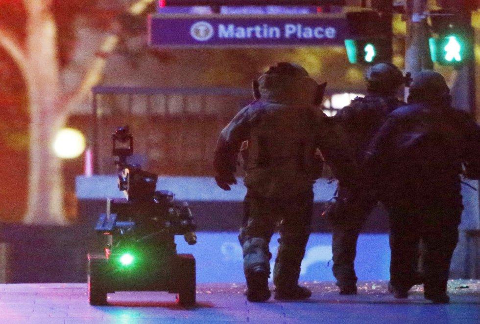 Operacion policial para la liberación de los rehenes