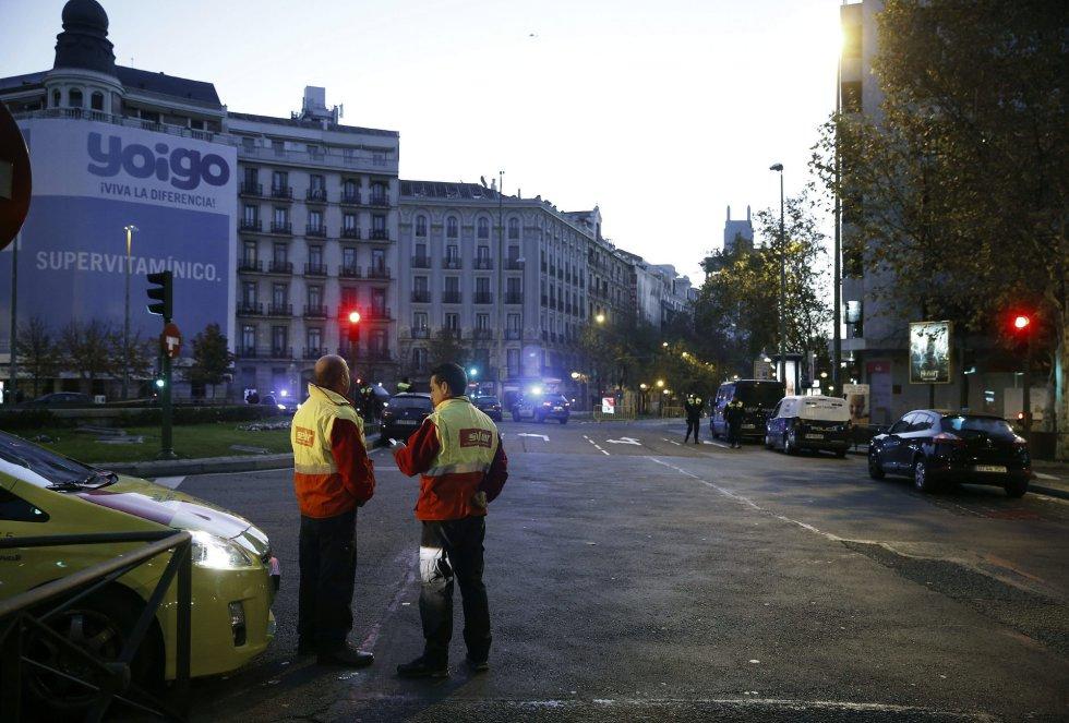 Vista de la calle Génova de Madrid, a primera hora de la mañana.