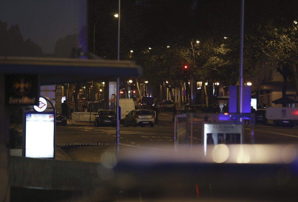Los alrededores de la calle Génova de Madrid, donde se encuentra la sede nacional del PP