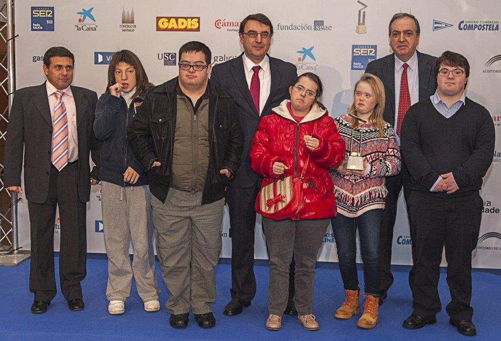 Xaime López, redacción de Radio Galicia, con parte de la Fundación Down Compostela