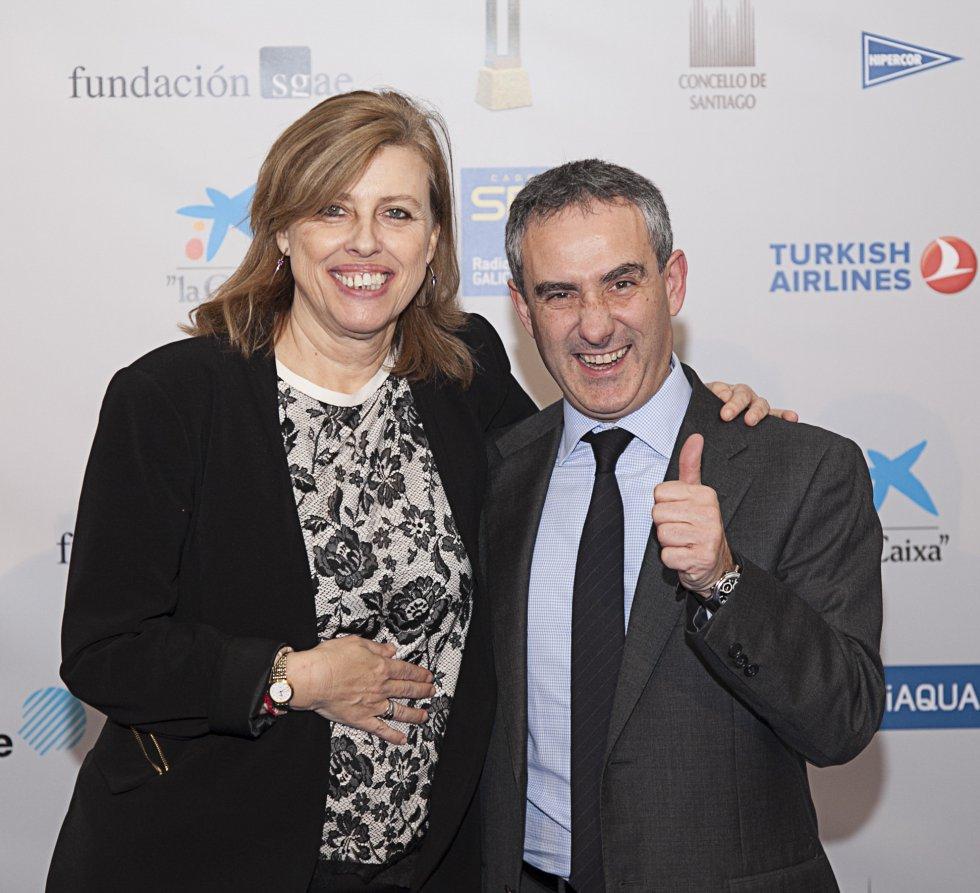 Aida Pena, directora de contenidos, y Mario Moreno, director comercial de SER Galicia