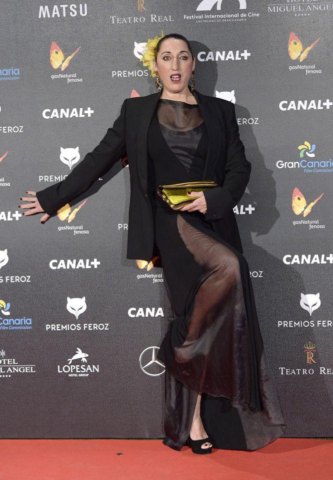 Rossy de Palma y su posado especial, en los premios Feroz