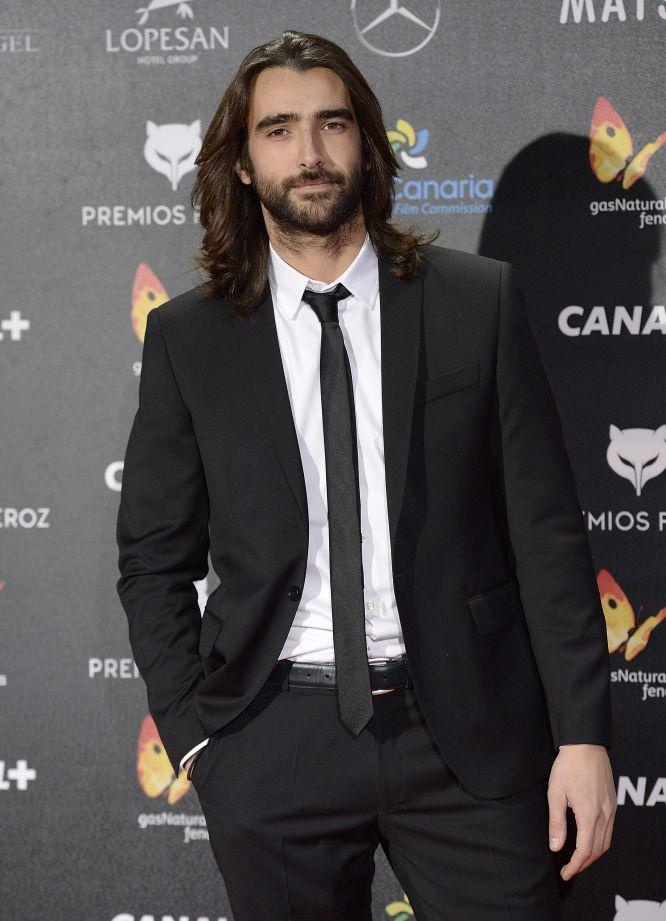 El actor Aitor Luna, en los premios Feroz