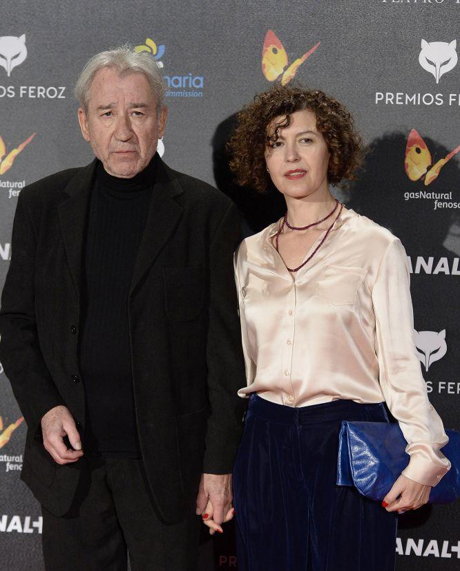 José Sacristan y Amparo Pascual, a su llegada a los premios Feroz