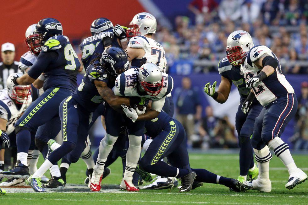 El running back de los Patriots LeGarrette Blount.