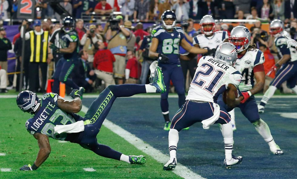 Un pase interceptado a los Seahawks ha sido la jugada decisiva de la Super Bowl.