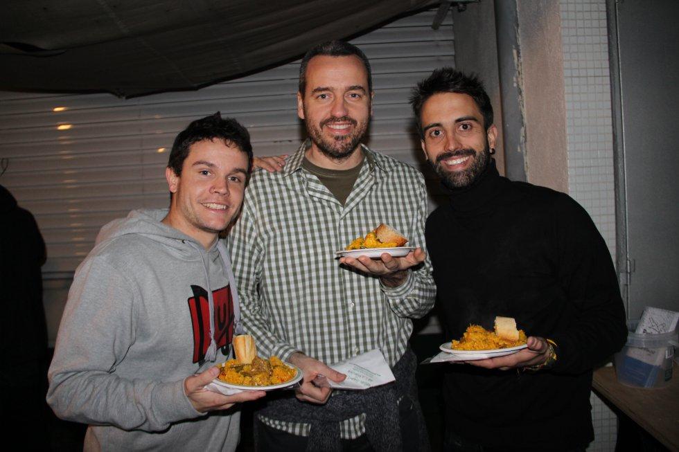 Coke Peinado, Carlos Iribarren y Roberto García cogen fuerza antes de comenzar la transmisión de la Super Bowl