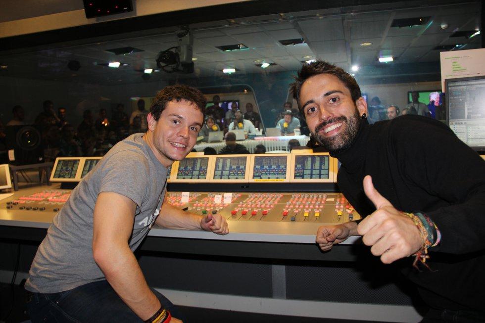 Jorge Peinado y Roberto García, al mando de los controles.