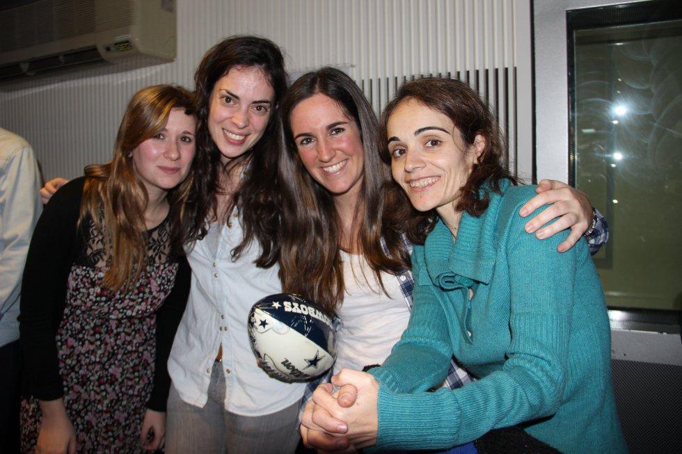 Lucía Taboada, Beatriz Ortiz, Paloma Monreal y Ana Rodríguez, en la recta final del programa.