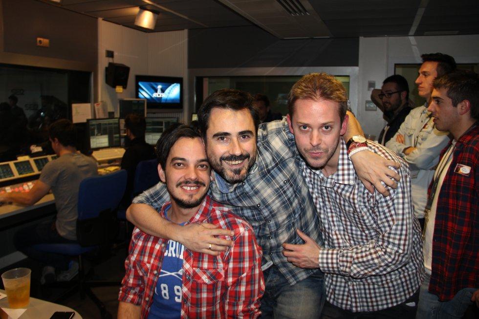 Daniel Garrán, Alfredo García y Borja Cuadrado.