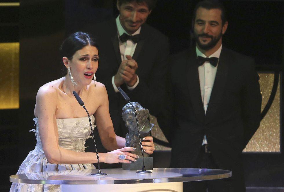 """La actriz Nerea Barros recibe el Goya a la mejor actriz revelación, por su interpretación en """"La isla mínima"""""""