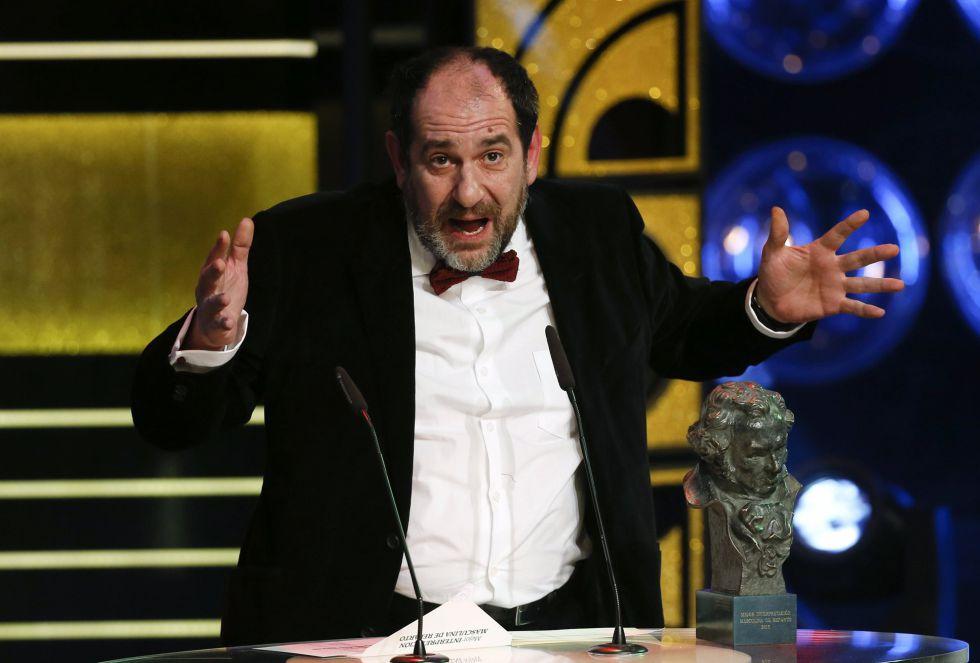 Karra Elejalde agradece el Goya a mejor actor de reparto por 'Ocho apellidos vascos'