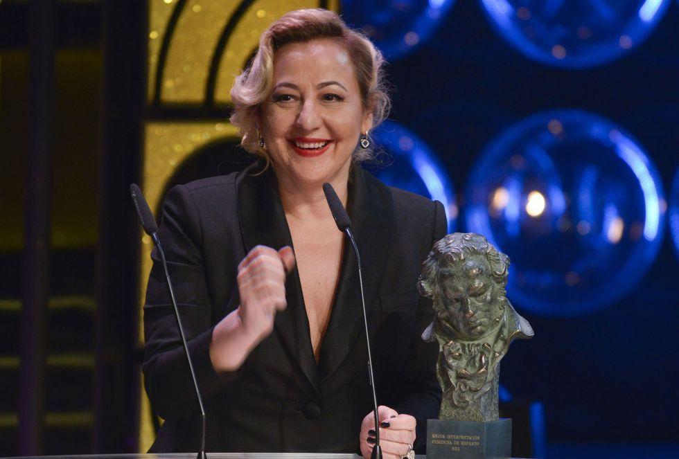 Carmen Marchi recoge su premio a mejor actriz de reparto por 'Ocho apellidos vascos'