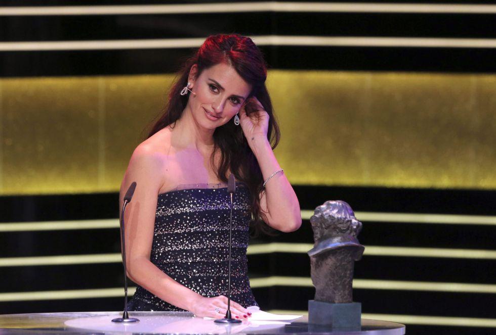 La actriz Penélope Cruz durante la gala de entrega de los premios Goya