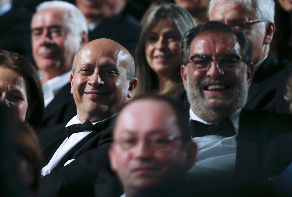José Ignacio Wert junto a Enrique González Macho, en un momento durante la gala
