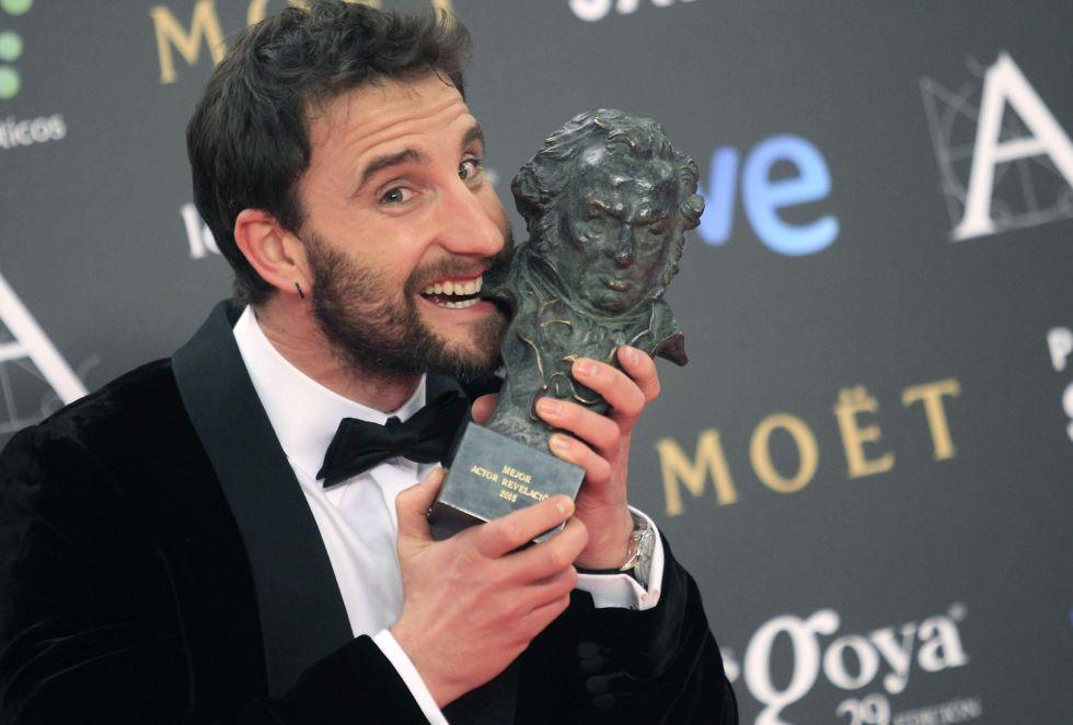 El humorista y actor Dani Rovira tras recibir el Goya al mejor Actor Revelación