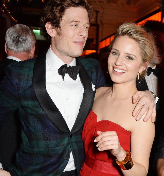 James Norton y Dianna Agron, en la fiesta posterior a la entrega de los Bafta