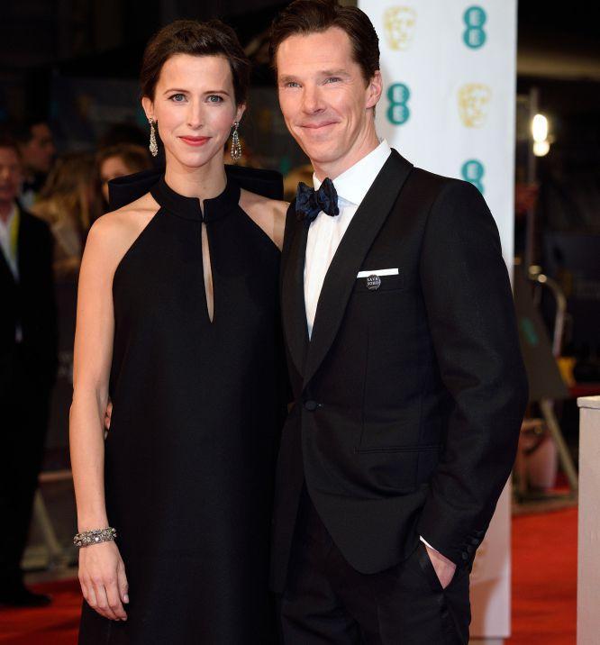 Sophie Hunter y Benedict Cumberbatch, a su llegada a los Bafta