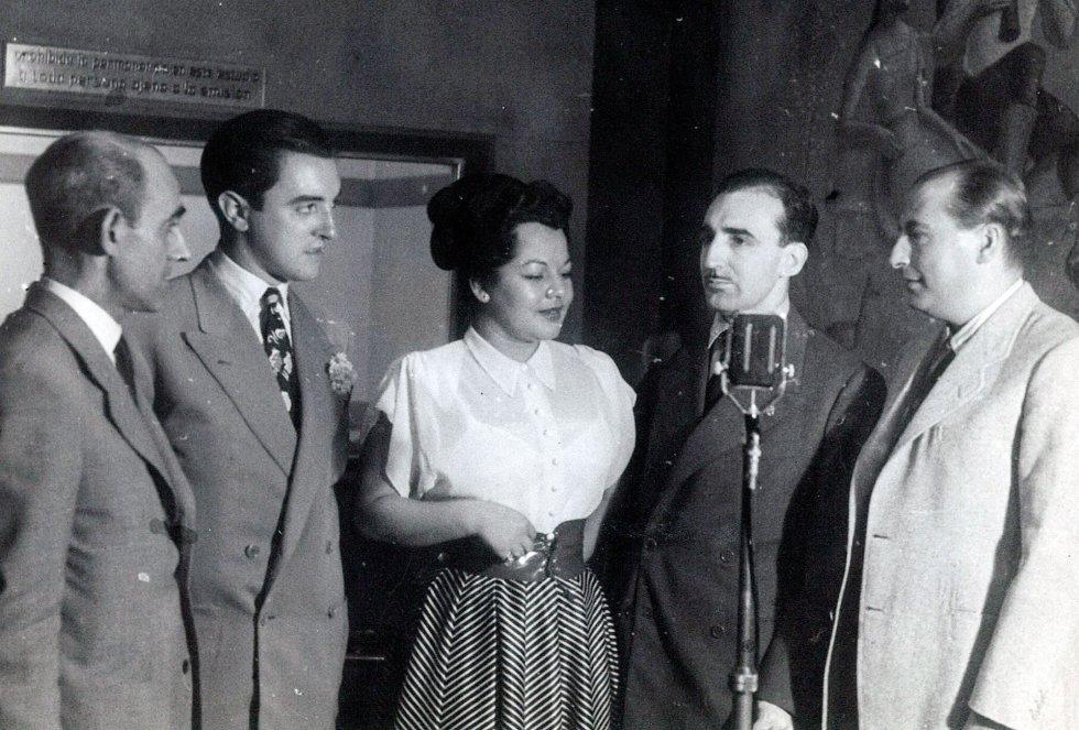 Juan Cuberta, M. Galarza, Ana María González, Jesús María de Arozamena  y M. Quintero
