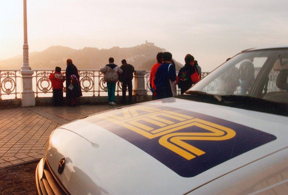 Unidad móvil de Radio San Sebastián a comienzos de la década de los 90