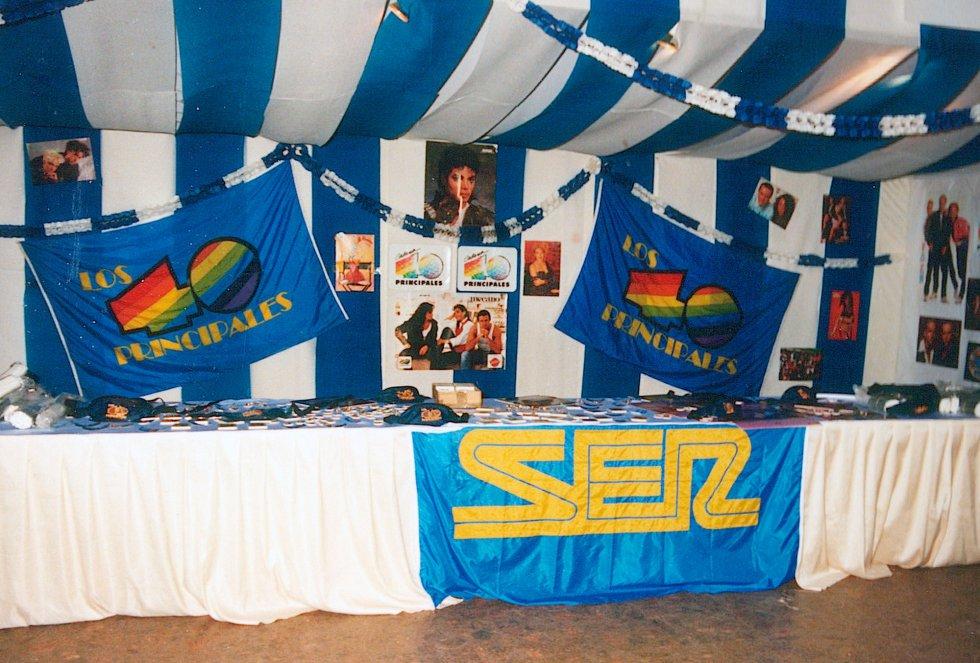 Radio San Sebastián en la fiesta del 20 de enero de 1991