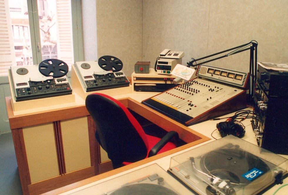 Estudio de Los 40 Principales en la Avenida de la Libertad, 27, en 1991