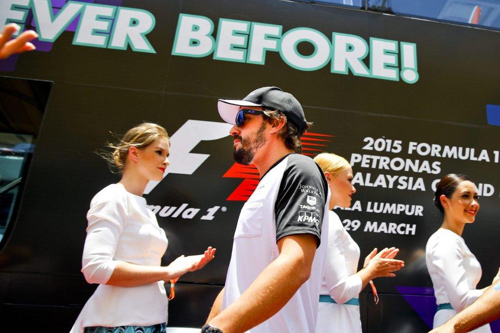 El español, a su llegada al circuito malayo.