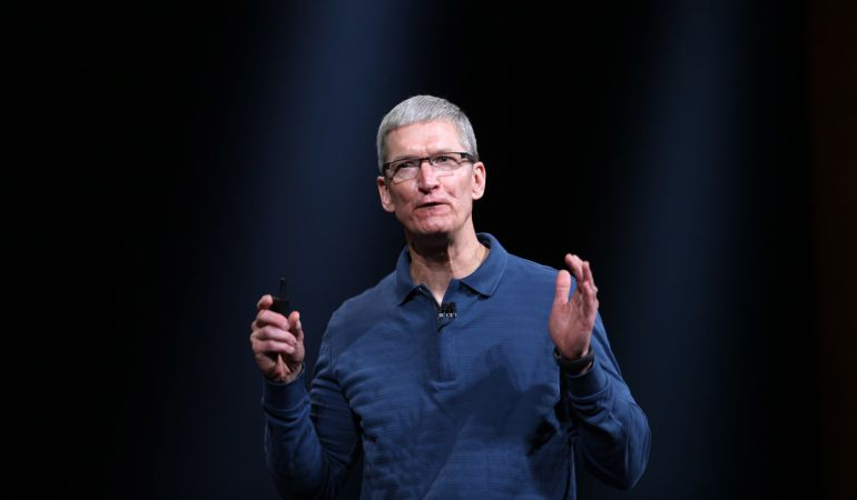 El CEO de Apple, Tim Cook, durante un evento de Apple en California