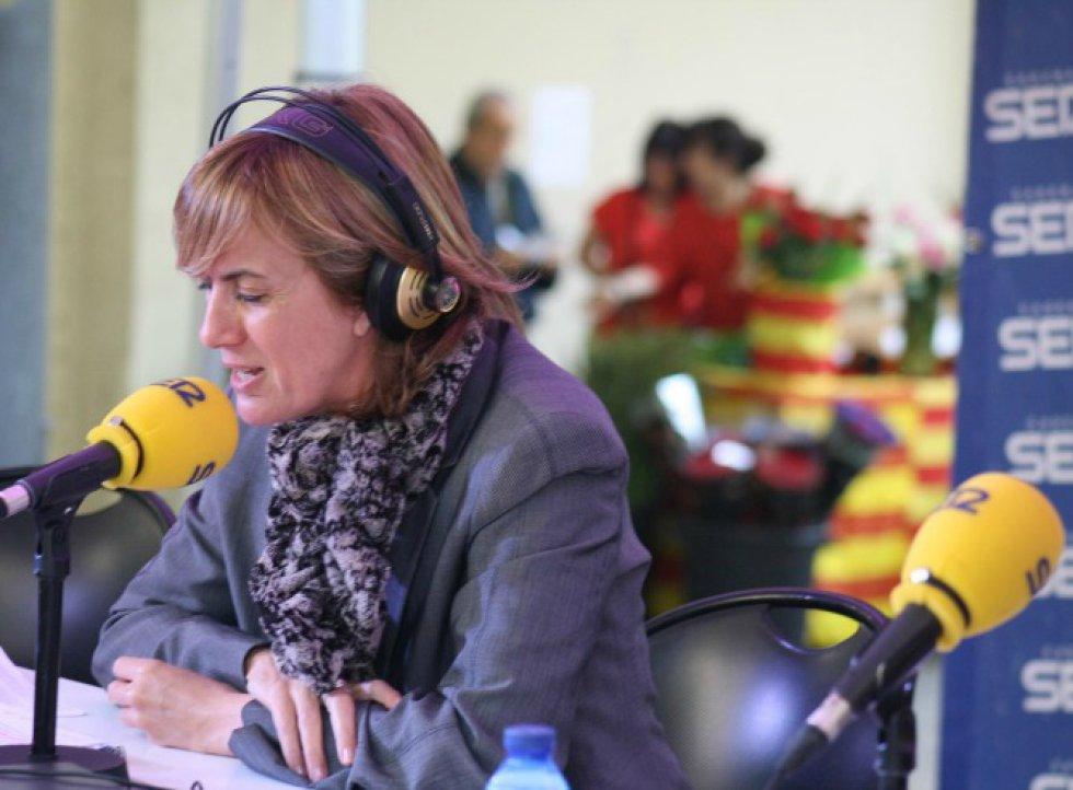Gemma Nierga se pondrá ante los micrófonos a partir de las 10 de la mañana desde el escenario especial situado en la Calle Caspe de Barcelona