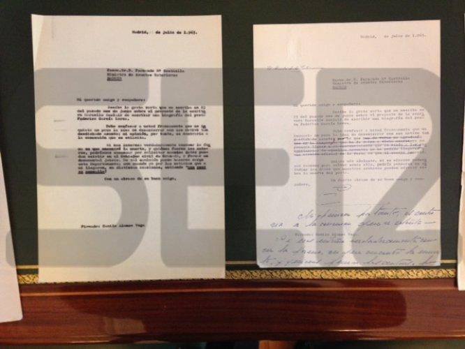Carta del ministro de la Gobernación Camilo Alonso Vega.