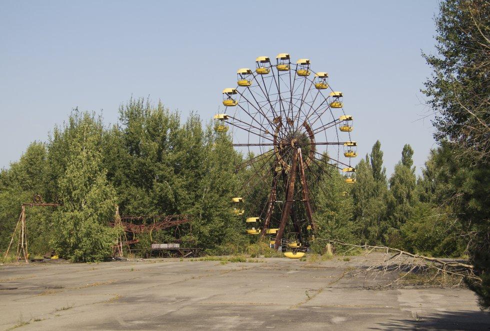 La noria de Pripyat nunca se llegó a inaugurar por el accidente nuclear