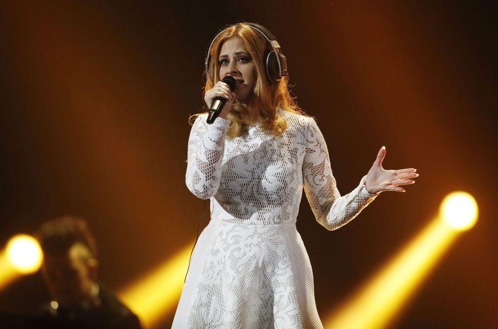 """Maraaya, de Eslovenia, canta """"Here for you""""."""