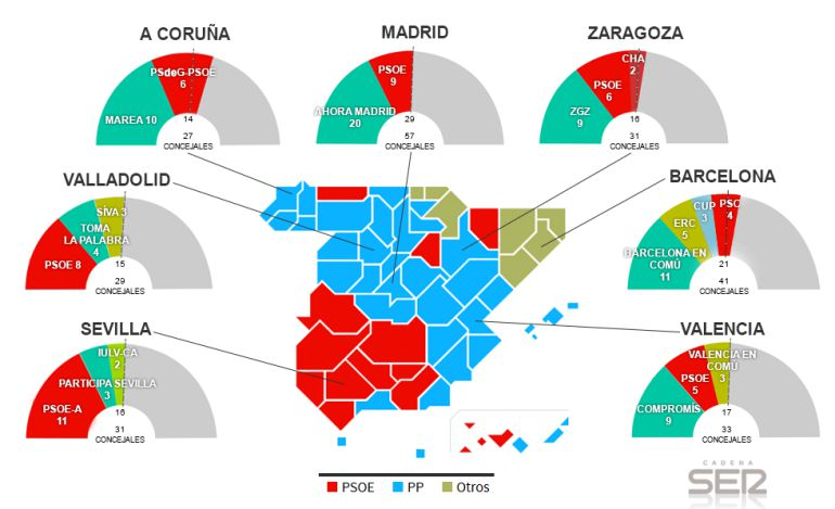 Mapa De Elecciones 2015.Elecciones Municipales 2015 Los Puntos Mas Calientes En El