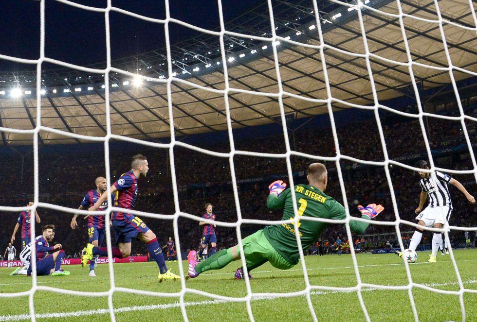 Morata marca el primero de la Juventus tras una gran parada de Ter Stegen