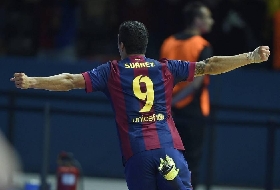 Luis Suárez aparece en el escena para volver a adelantar al Barça en el luminoso de la final