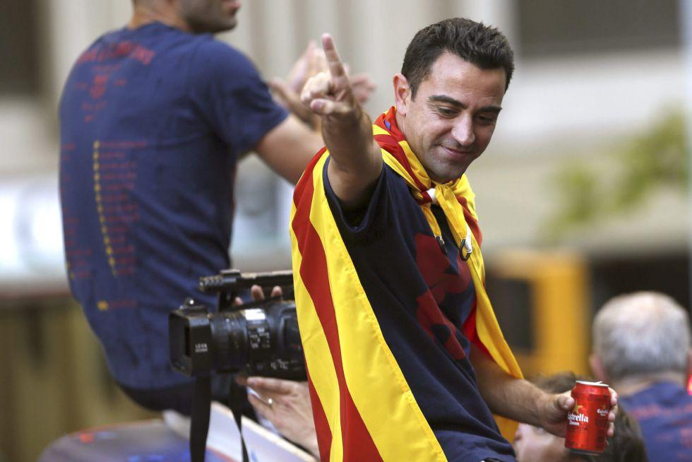 El gran capitán del Barcelona durante el festejo blaugrana