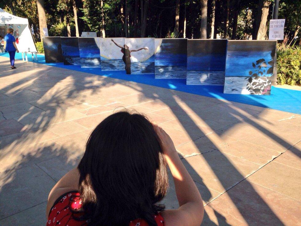 Una de las obras que más atracción ha provocado en Actúa Málaga.