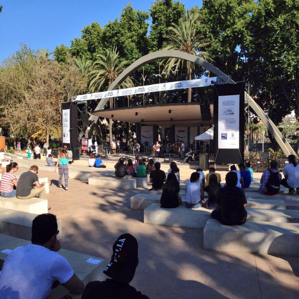 El recinto Eduardo Ocón ha acogido numerosos conciertos gratuitos