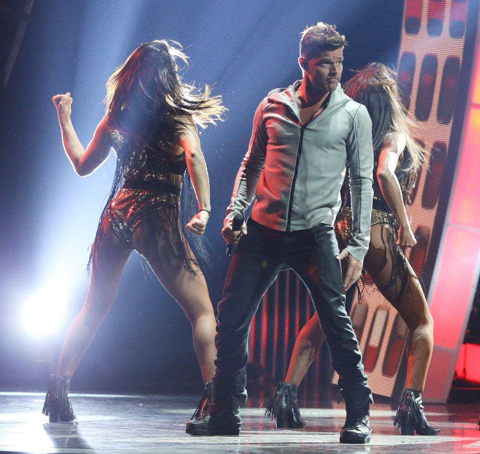 Ricky Martin , en el escenario del MGM Grand Garden Arena de Las Vegas, Nevada.