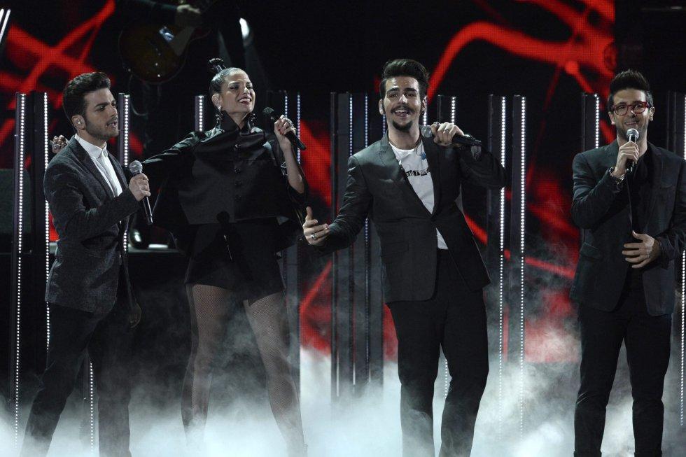 Miembros del trio italiano Il Volo.