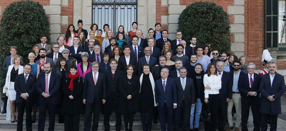 Foto de familia de los galardonados en la 62 edición de los Premios Ondas.