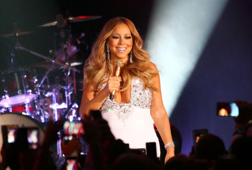 Mariah Carey durante su actuación para celebrar el 2016 en Melbourne, Australia.