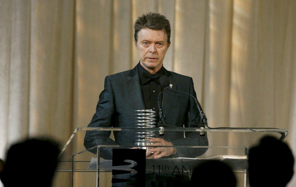 David Bowie recibe el Webby Lifetime Achievement, el 5 de junio de 2007.