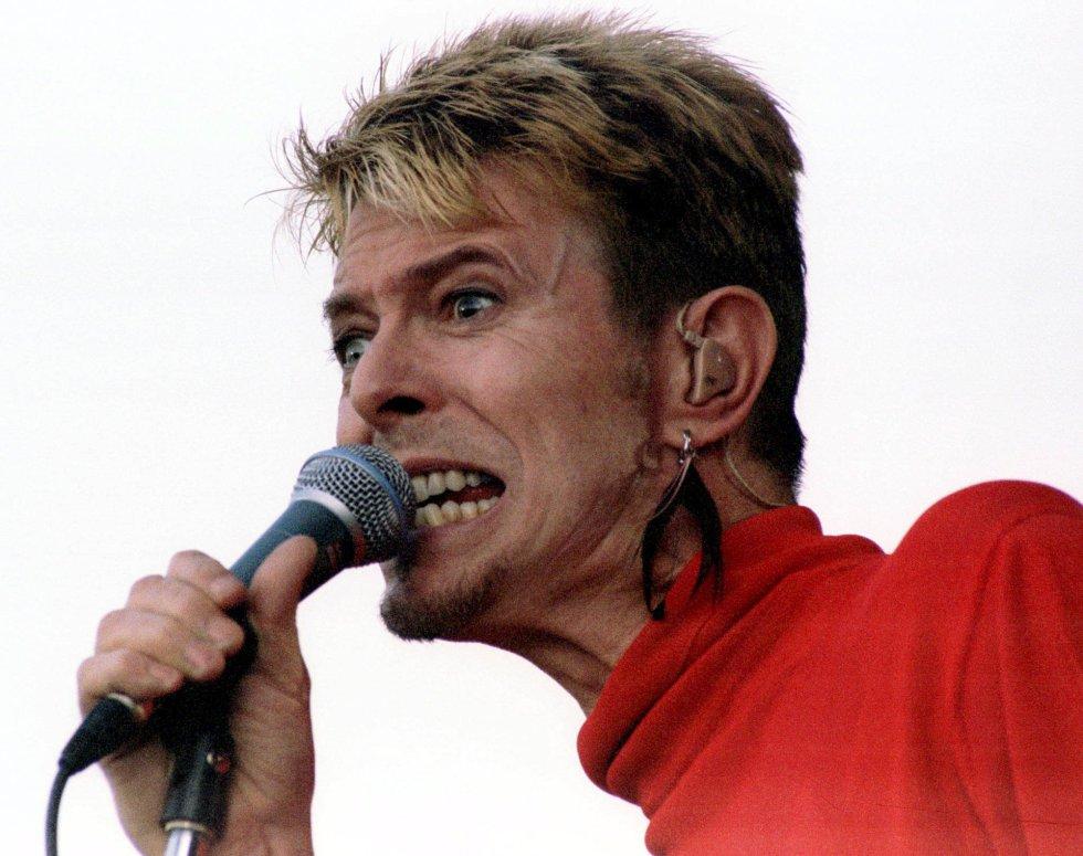 David Bowie, en el festival 'Out In The Green' en Frauenfeld, el 13 de julio de 1997.