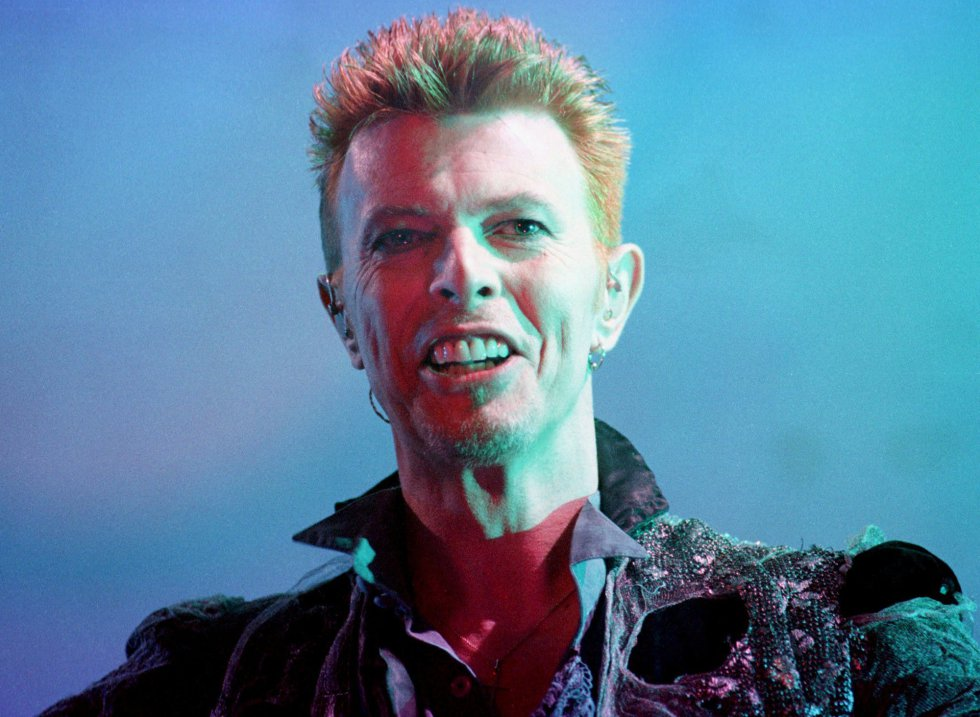 David Bowie, en el Doctor Music Festival el 12 de julio de 1996.